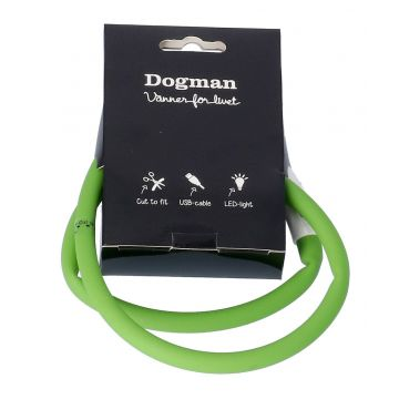 Dogman Blinkhalsband LED Grön 20-65cm