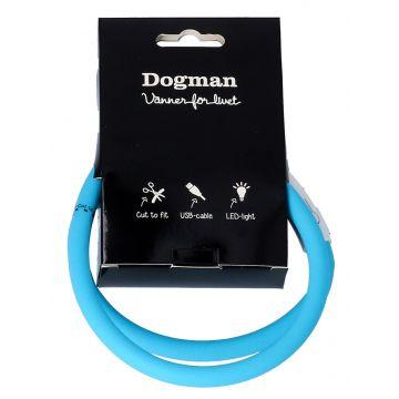 Dogman Blinkhalsband LED Turkos 20-65cm