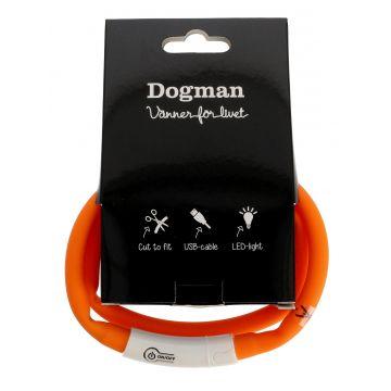 Dogman Blinkehalsbånd LED Oransje 20-65cm