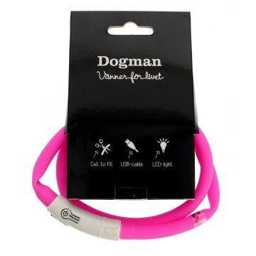 Dogman Blinkhalsband LED Rosa 20-65cm