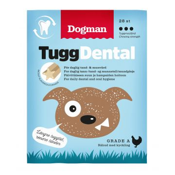 Dogman Tygg Dental med kylling 28p S 12,5cm