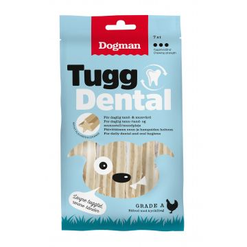 Dogman Tygg Dental med kylling 7p M 12,5cm
