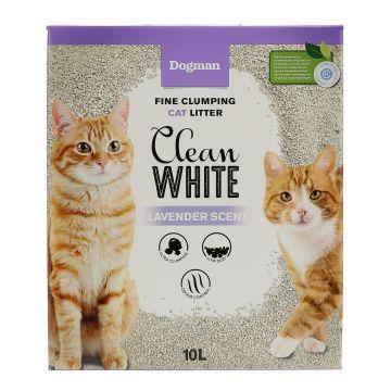 Dogman Kattesand clean white Hvit 10L