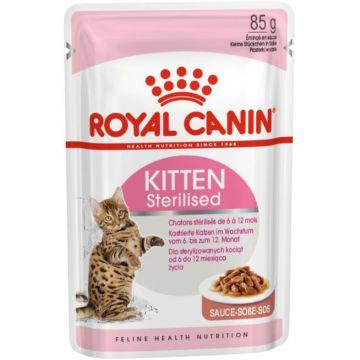 Royal Canin Kitten Sterilised Gravy Wet 12x85g