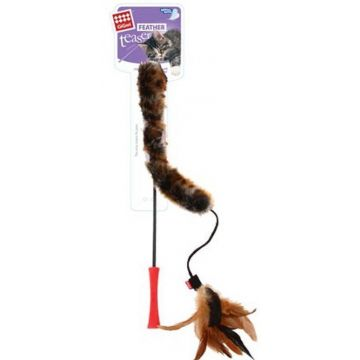 GiGwi Leke Feather Teaser Brun 53cm