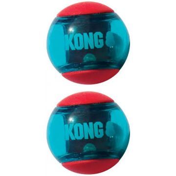 KONG Leksak Squeezz Action Ball 2p Flerfärgad L 8cm