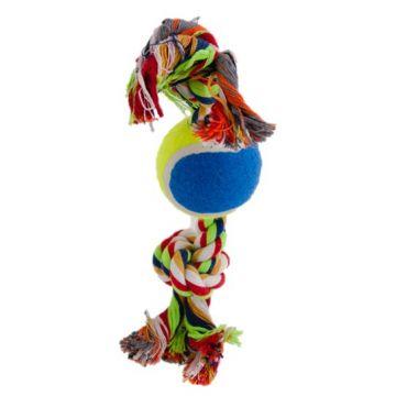 Dogman Leke Tau med ball Flerfärgad M 30cm