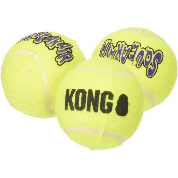 KONG Leke SqueakAir Balls 3p Gul S 5cm