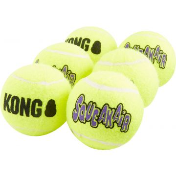 KONG Leke SqueakAir Balls 6p Gul M 6cm