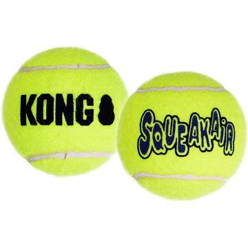 KONG Leke SqueakAir Ball 2p Gul L 8cm