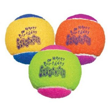 KONG Leke SqueakAir Birthday Ball Flerfarget M 6cm