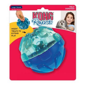 KONG Aktiviseringsleke Reward Ball Blå L 13cm