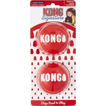 KONG Leke Signature Balls 2p Rød L 8cm