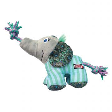 KONG Leksak Knots Carnival Elephant Turkos S/M