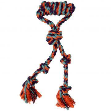 Dogman Leksak Rephandtag med knut Orange L 38cm