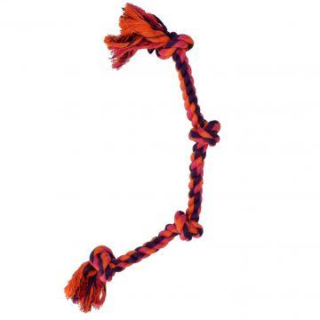 Dogman Leke Tau med 4 knuter Oransje L 44cm