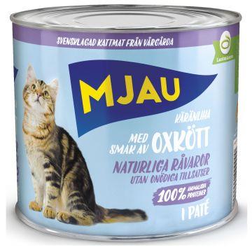 Mjau Paté med oksekjøtt 635g