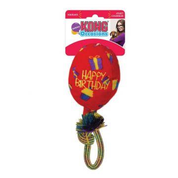 KONG Leksak Birthday Balloon Röd M 15cm