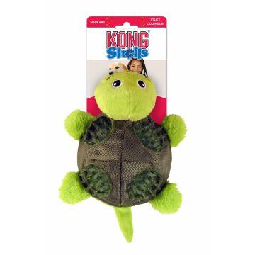 KONG Leksak Shells Turtle Grön L 23cm