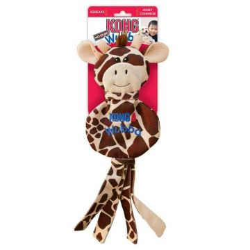 KONG Leke Wubba NoStuff Giraffe Brun L 40cm