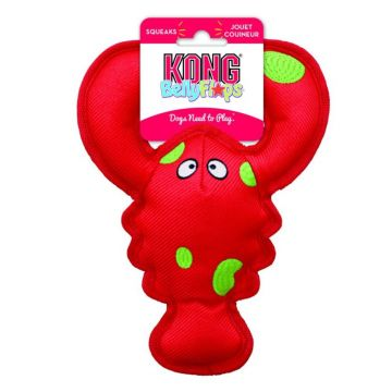 KONG Leksak Belly Flops Lobster Röd M 28cm