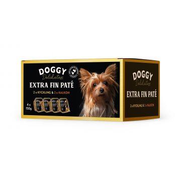 Doggy D-paté kylling kalkun mix 600g