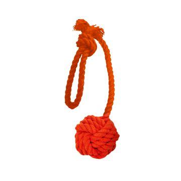 Dogman Leke Tauball med håndtak Oransje M 35cm