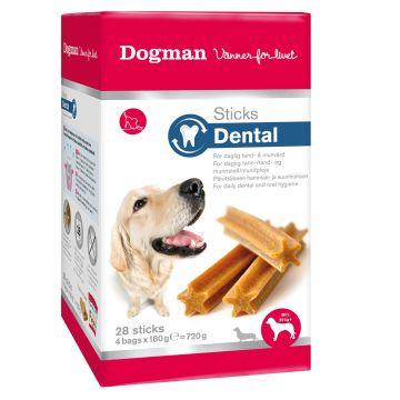 Dogman Sticks Dental box 28p M/L 13cm