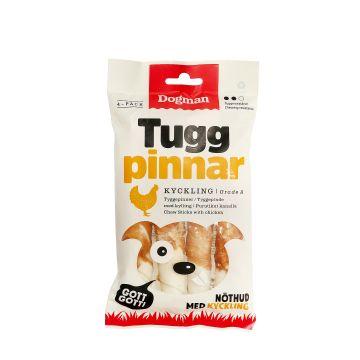 Dogman Tuggpinnar med kyckling 4p Vit S 12,5cm