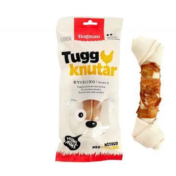 Dogman Tuggknut med kyckling Vit L 23cm