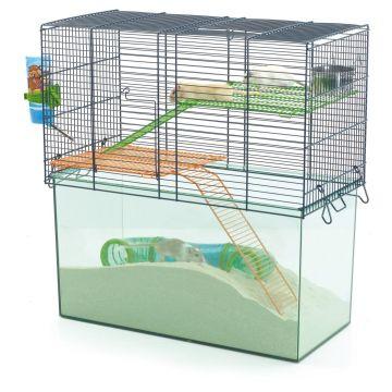 Savic Smådjursbur Habitat Transparent S 51cm