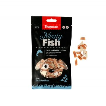 Dogman Fisk och kycklingbitar 80g