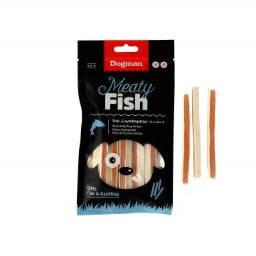 Dogman Fisk och kycklingstrips 80g