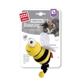 GiGwi Leke Running Bee Gul 13,5cm