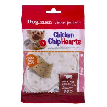 Dogman Chicken Chip hearts 4p Hvit S 10cm