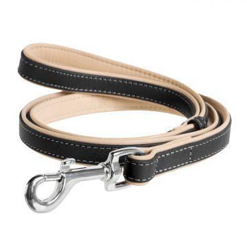 Collar Läderkoppel Soft Svart M 183cm