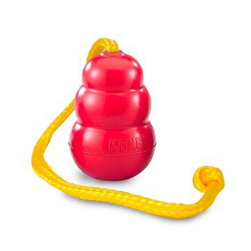 KONG Leke Kong Classic med tau Rød M 56cm