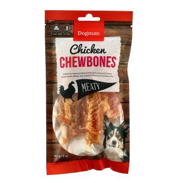 Dogman Chicken chewbones 3p S 12,5cm
