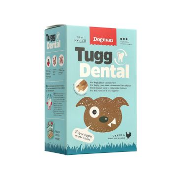 Dogman Tugg Dental med kyckling 28p M 17,5cm