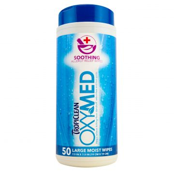 Tropiclean Oxymed Allergyrelief Wipes 50p