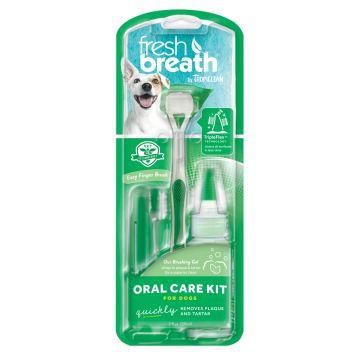 Tropiclean OralCare kit gel+tandborstar S/M 59ml