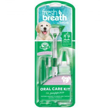 Tropiclean OralCare kit gel+tandborstar 59ml