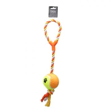 Dogman Leksak Rep med boll Orange XL 53cm