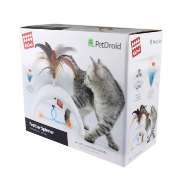 GiGwi Feather Spinner Pet Droid 18cm