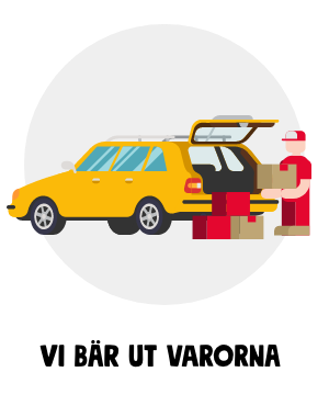 Handla från bilen och betala med swish - få varorna levererade till bilen